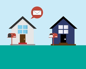 bad communication by sending letter to wrong address vector, moving